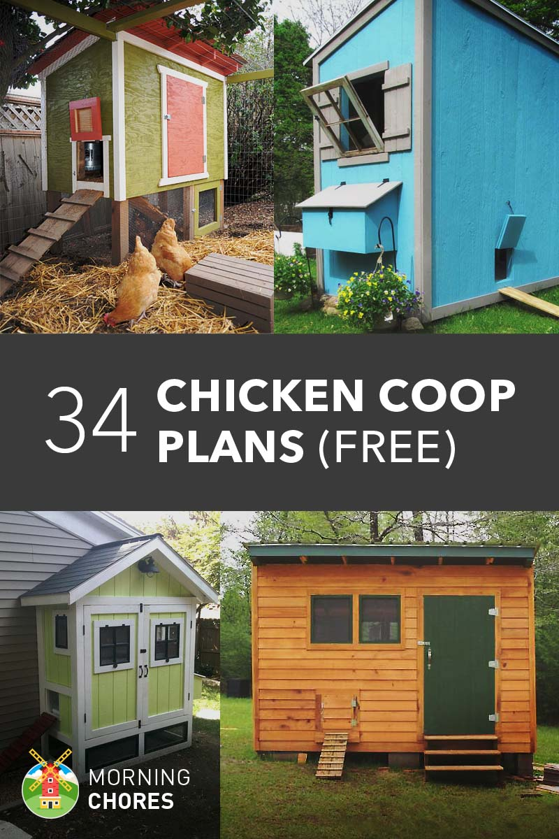 61 diy chicken coop plans that are easy to build 100 free for Diy movable chicken coop