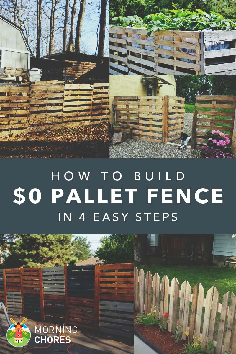 How to build a pallet fence for almost 0 and 6 plans ideas for How do you build a deck yourself