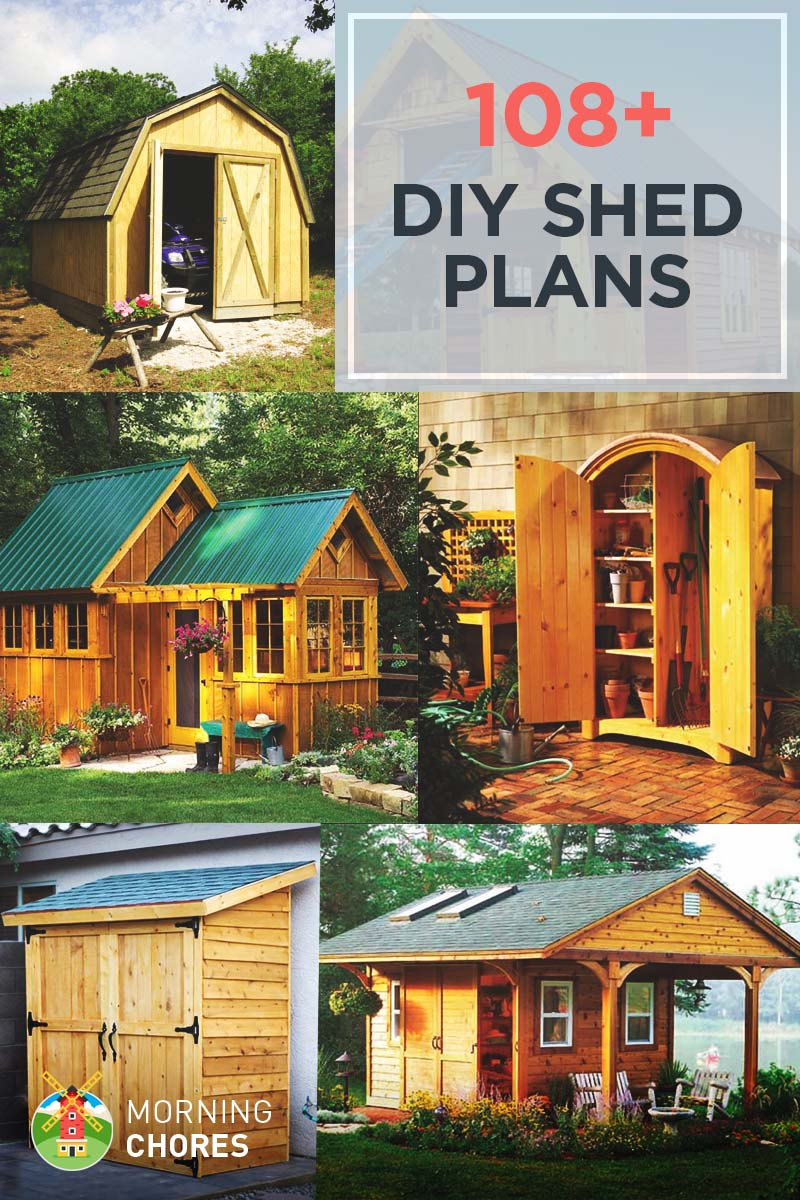 108 Free DIY Shed Plans & Ideas that You Can Actually Build in Your Backyard - 108 DIY Shed Plans With Detailed Step-by-Step Tutorials (Free)
