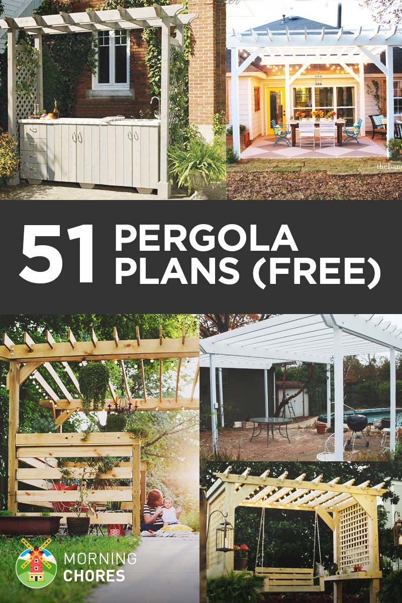 51 Free DIY Pergola Plans & Ideas That You Can Build in Your Garden - 51 DIY Pergola Plans & Ideas You Can Build In Your Garden (Free)