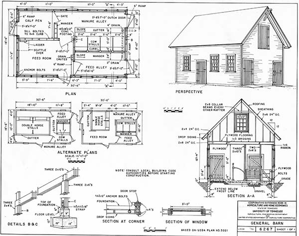 108 diy shed plans with detailed step by step tutorials free for Simple barn home plans