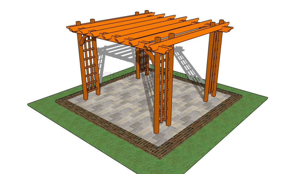 The Patio Pergola. p11 - 51 DIY Pergola Plans & Ideas You Can Build In Your Garden (Free)
