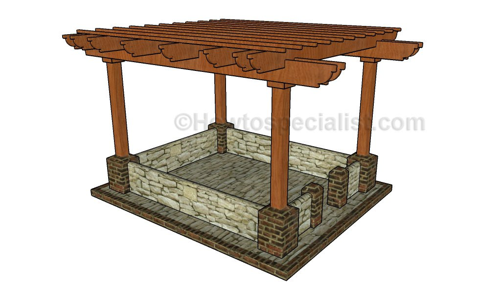 The Patio Pergola #3. p16 - 51 DIY Pergola Plans & Ideas You Can Build In Your Garden (Free)