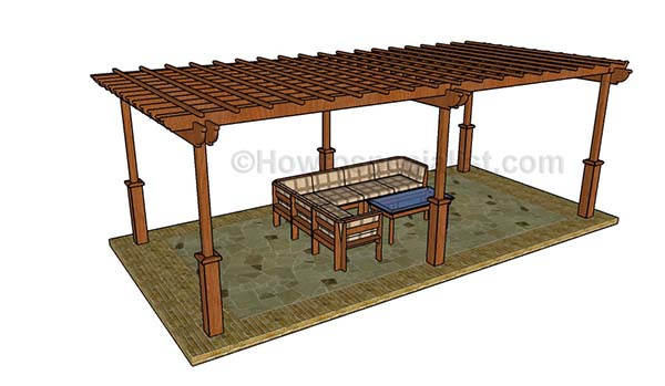 These plans are meant for building a large pergola. This is going to cover  more than your average size deck. - 51 DIY Pergola Plans & Ideas You Can Build In Your Garden (Free)
