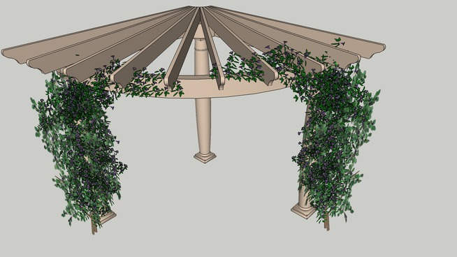 The Rounded Pergola. p46 - 51 DIY Pergola Plans & Ideas You Can Build In Your Garden (Free)