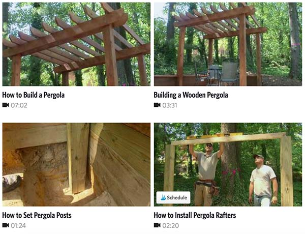 This informational video will explain to you in 7 minutes how to build a  stylish wooden pergola. The purpose of this is to help add a little pizzazz  to your ... - 51 DIY Pergola Plans & Ideas You Can Build In Your Garden (Free)