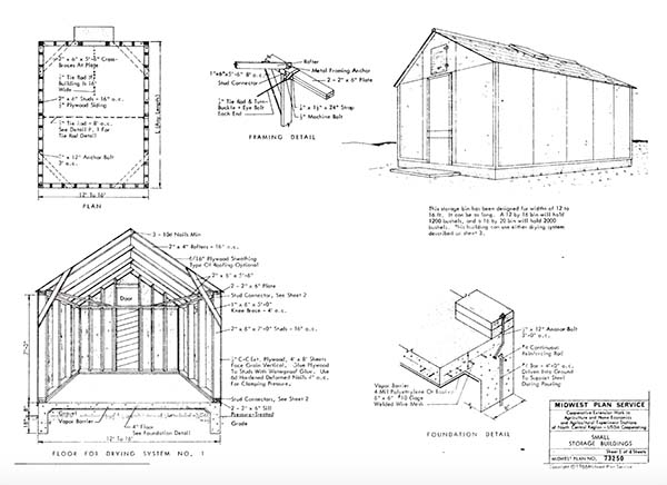 153 pole barn plans and designs that you can actually build16 29 iowa state university grain storage plans