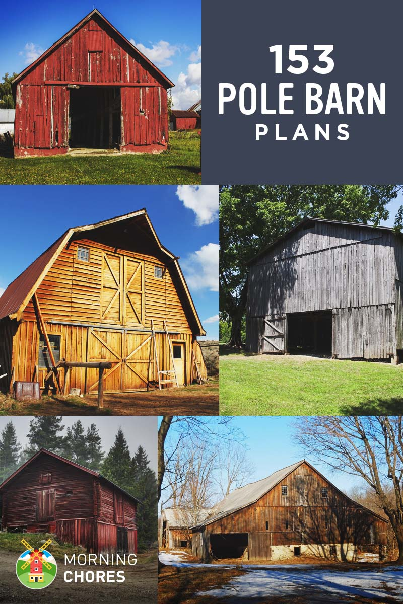 153 free diy pole barn plans and designs that you can actually build - Free Building Designs