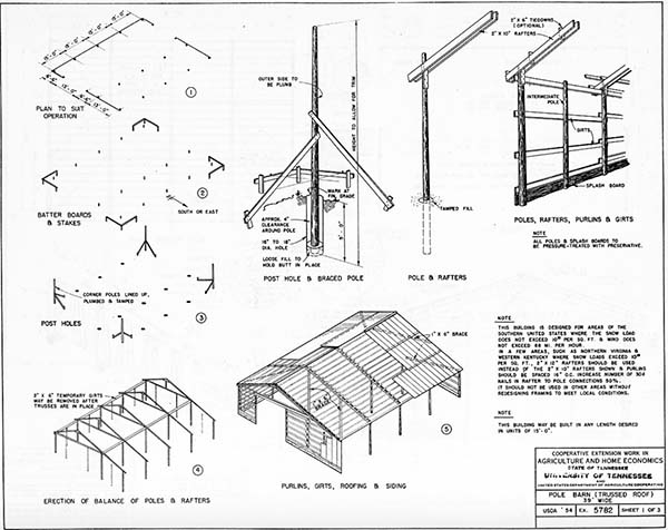 153 pole barn plans and designs that you can actually build for Wood pole barn plans free
