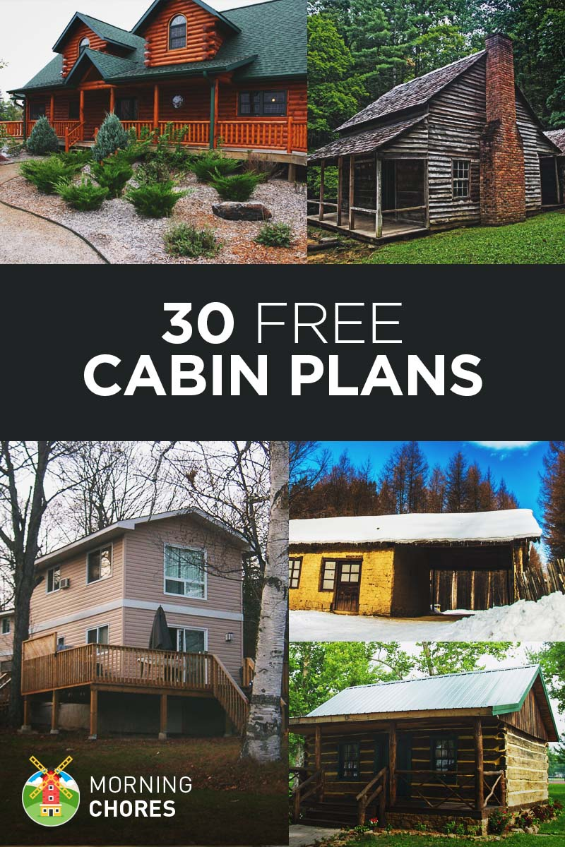 27 beautiful diy cabin plans you can actually build for Simple log cabin plans free