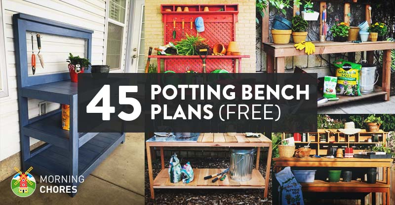 45 Diy Potting Bench Plans That Will Make Planting Easier