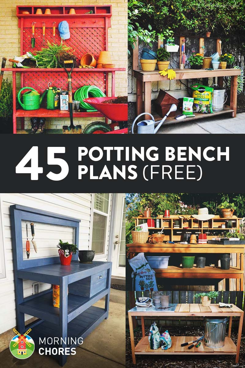 Captivating 45 Free DIY Potting Bench Plans U0026 Ideas That Will Make Planting Easier