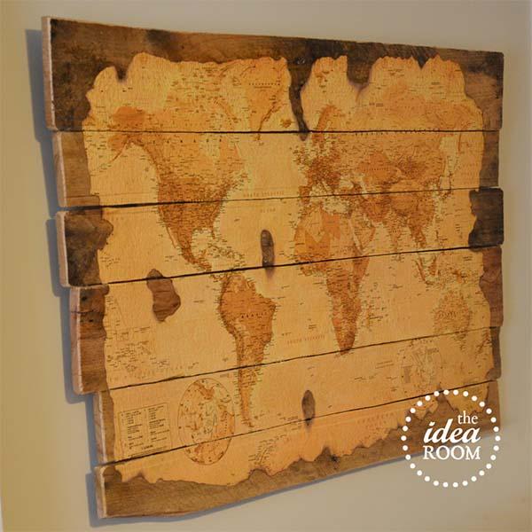 Pallet Decorative Map