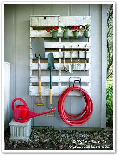 Pallet Garden Tool Organizer