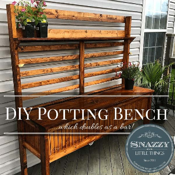 45 diy potting bench plans that will make planting easier for Potting shed plans diy blueprints