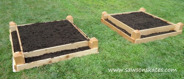 with benches build home raised our a sweet bed to garden how