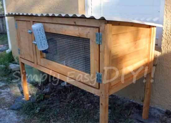 50 diy rabbit hutch plans to get you started keeping rabbits for Wooden rabbit hutch plans