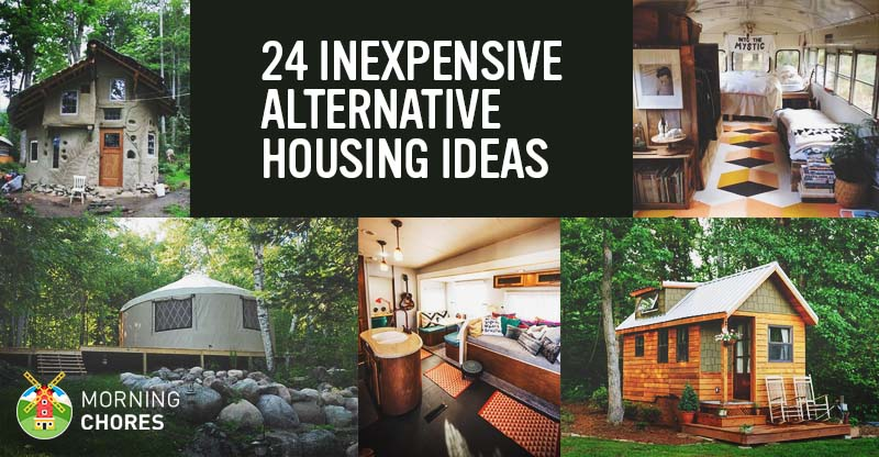 24 realistic and inexpensive alternative housing ideas for Inexpensive home construction