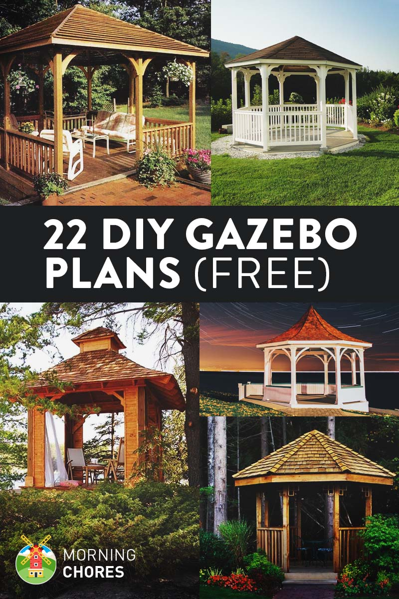 22 Free DIY Gazebo Plans & Ideas with Step-by-Step Tutorials - 22 Free DIY Gazebo Plans & Ideas To Build With Step-by-Step Tutorials
