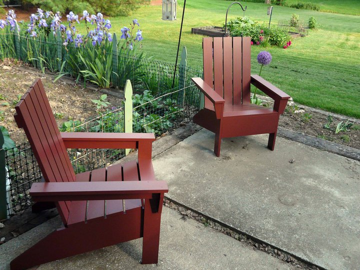 Anau0027s Design For An Adirondack Chair Is A Great One. The Reason Is Because  She Puts Her Own Spin On The Classic Design. These Look Sleek And Modern.