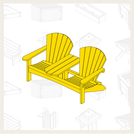 double adirondack chair plans. We\u0027ve Seen A Couple Of These Already But Are Another Option That Is  Rather Simple To Build. It For Double Adirondack Chair Great Adirondack Plans O
