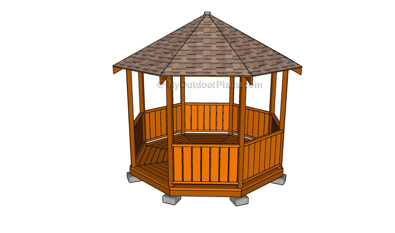 Octagonal Gazebo Plans. G17 - 22 Free DIY Gazebo Plans & Ideas To Build With Step-by-Step Tutorials