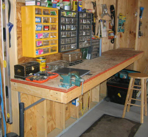 if you have a garage then this workbench would be amazing for it you would have a designated place to work and leave your tools - How To Build A Garage Workbench