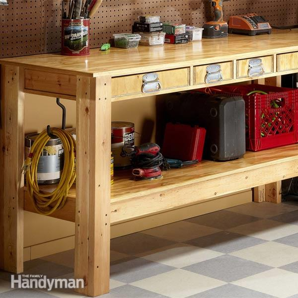 This Workbench Looks Fancy But It Can Actually Be Broken Down And Built  Easily By Even A Beginner At Carpentry. It Has A Large Storage Shelf  Beneath The ...