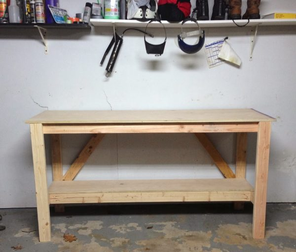 This Basic Diy Workbench Has The Clic Design Of An Open Shelf Beneath But It Gives You Ample Amount Worke