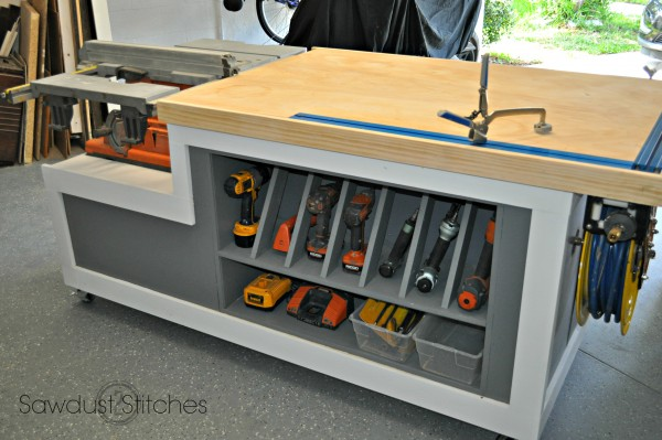 this table is the ultimate workbench it looks really nice and fits just about any need you might have it offers great amounts of storage for large or - How To Build A Garage Workbench