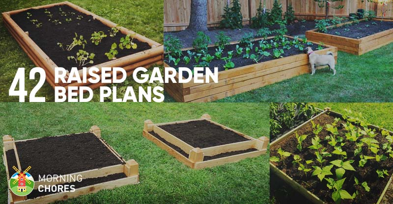 42 diy raised garden bed plans ideas you can build in a day for Raised bed garden layout