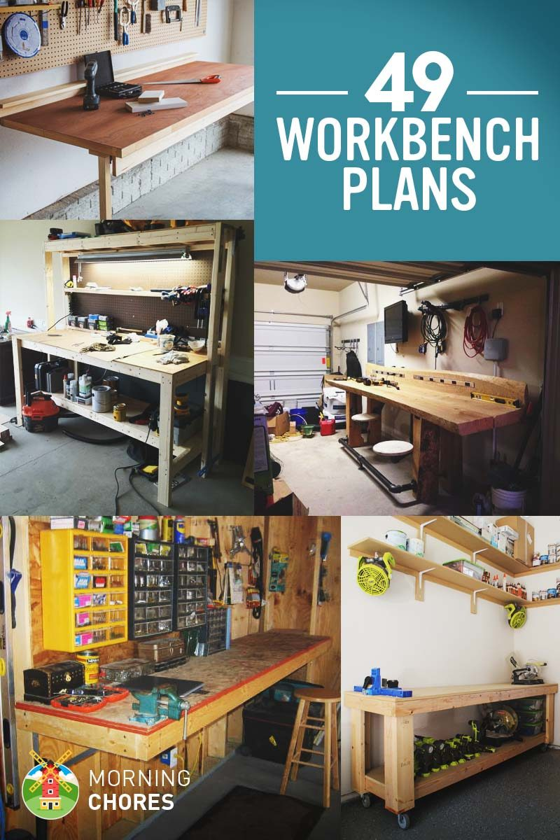 49 Free DIY Workbench Plans Ideas to Kickstart Your Woodworking – Garage Work Bench Plans