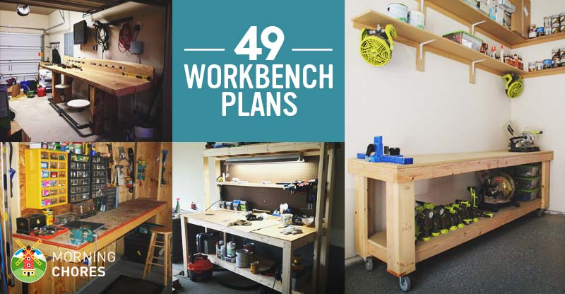 49 Free DIY Workbench Plans & Ideas to Kickstart Your