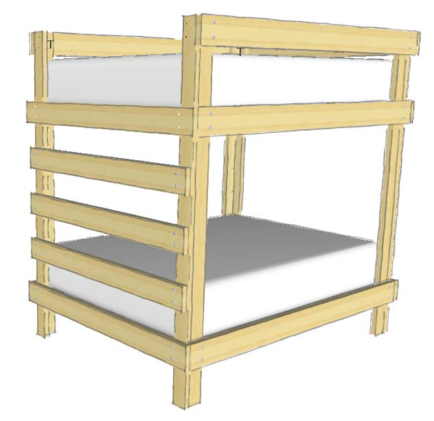 31 DIY Bunk Bed Plans & Ideas that Will Save a Lot of Bedroom Space