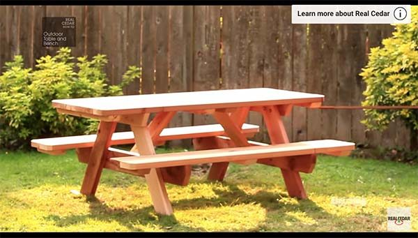 Free DIY Picnic Table Plans For Kids And Adults - Four sided picnic table
