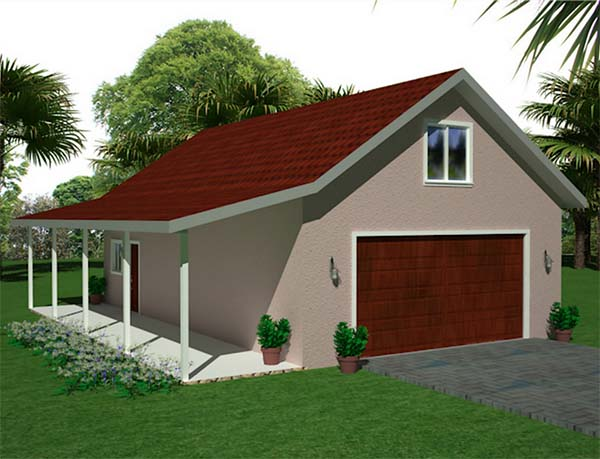 18 free diy garage plans with detailed drawings and for Patio home plans with garage