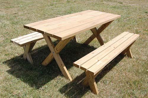 farm picnic table plans