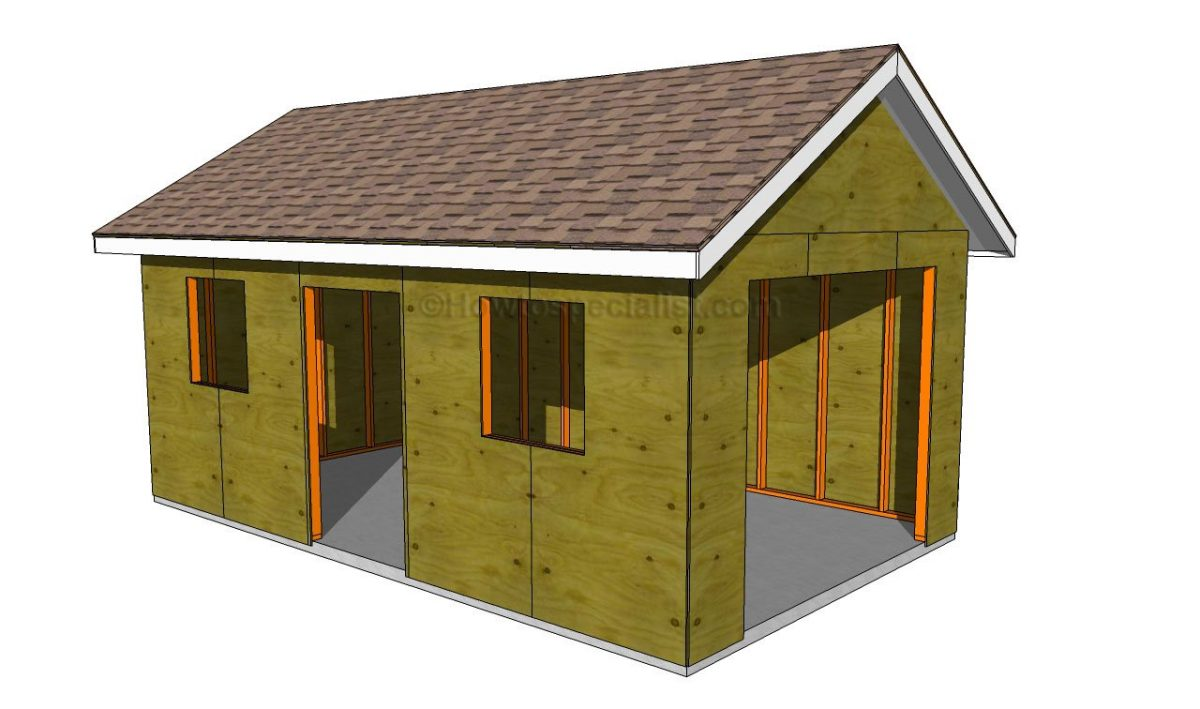 18 free diy garage plans with detailed drawings and for Garage building designs