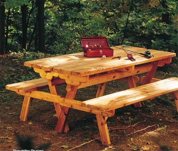 Free DIY Picnic Table Plans For Kids And Adults - Pentagon picnic table