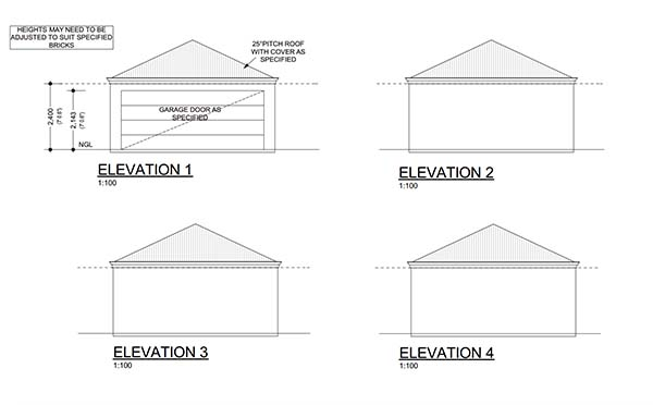18 Free DIY Garage Plans with Detailed Drawings and Instructions – 3 Bay Garage Plans