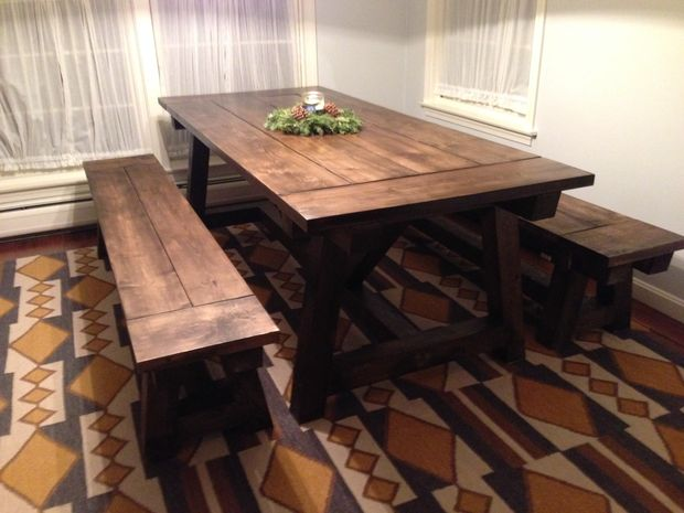 This Is Another Farmhouse Table That I Adore Because Of The Seating And Design Love How Simple It