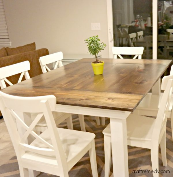 40 DIY Farmhouse Table Plans & Ideas For Your Dining Room