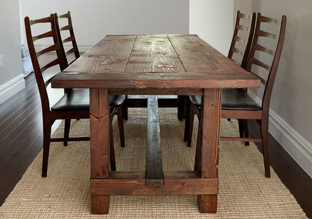 This Traditional Farmhouse Table Is What You Might Think Of When The Term Kitchen