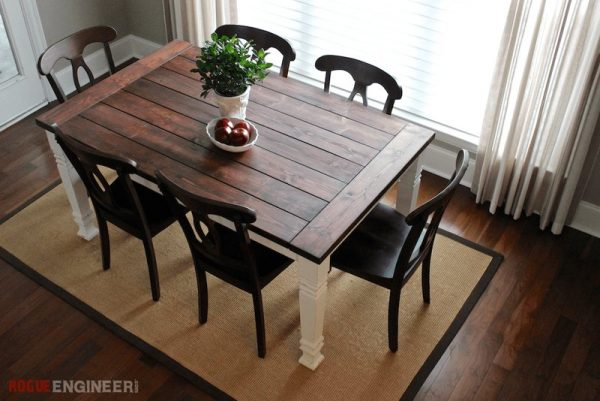 This Farmhouse Table Has Rustic Charm But Could Still Easily Blend Into A  Modern Home. And Provide Ample Seating Space In The Midst.