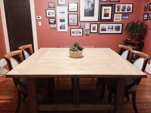 This Farmhouse Table Is Extra Wide. To Be Honest, I Think It Would Be An  Amazing Table To Have To Serve Thanksgiving Dinner On.