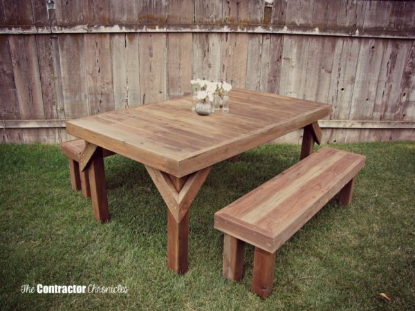 This Table Is Absolutely Gorgeous And It So Beautiful To Look At Because Built From Cedar Isn T The Usual When Looking Diy Picnic Tables