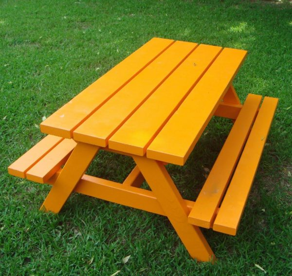 awesome Simple Picnic Table Plans Part - 15: So you have children, but they arenu0027t babies anymore. Yet, they still would  like to have their own table in the picnic area. I get it. I really do.