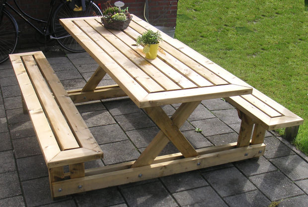 50 free diy picnic table plans for kids and adults. Black Bedroom Furniture Sets. Home Design Ideas