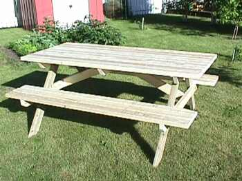 Free DIY Picnic Table Plans For Kids And Adults - Simple picnic table plans