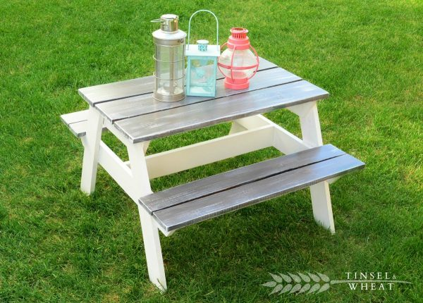 This Is Another Classic Version Of A Picnic Table That Has Been Downsized  To Be A Perfect Feature For Any Childu0027s Play Area.